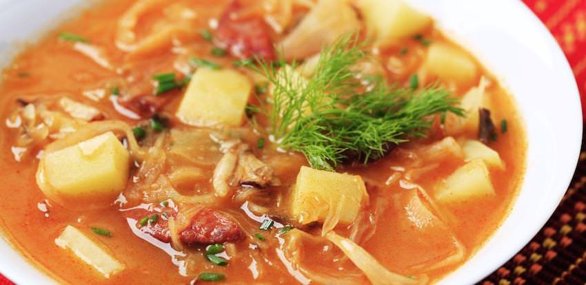 Kapustnica Recipe (Slovakian Sauerkraut Soup) | u Janosika